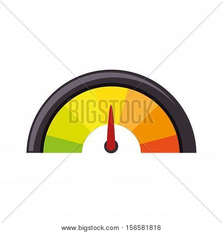 pressure gauge isolated icon vector illustration design