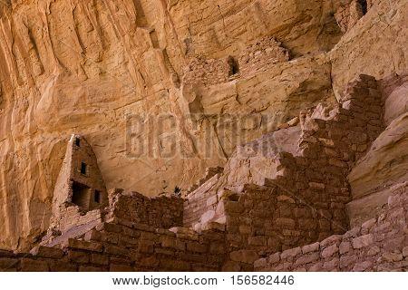 Ruins in Mesa Verde National Park, Colorado, USA poster