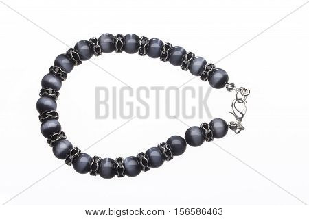 A Bead Bracelet Isolated on a White Background