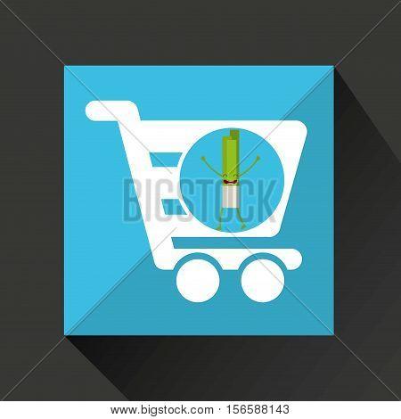concept market buy fresh celery vector illustration eps 10
