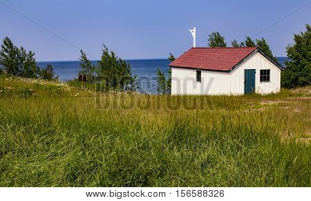 Au Sable Light Station, Pictured Rocks National Lake Shore, Lake Superior, Michigan, USA