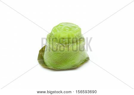 Kuih koo traditional Malay nyonya sweet desert on white background