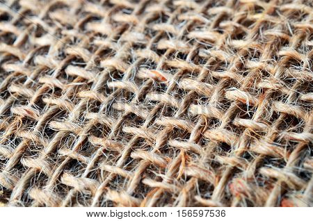 An abstract image of old burlap texture.