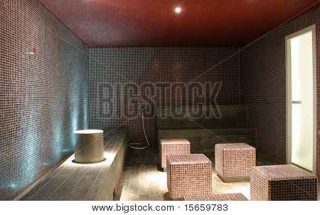 sauna interior design