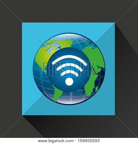 globe world internet connection service vector illustration eps 10