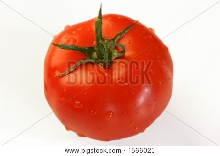Juicy Tomato With Clipping Path