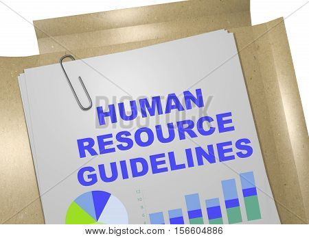 Human Resource Guidelines - Business Concept