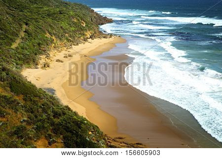 Beautiful waves on Glenaire beach in Australia