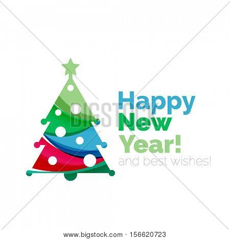 2017 New Year and Christmas holiday elements. abstract geometric design with white space for text