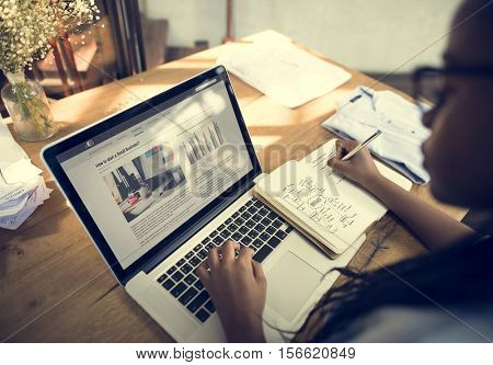 Business Startup Laptop Growth Success Concept