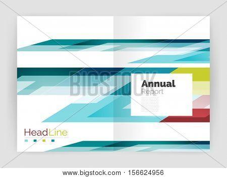 Modern line design, motion concept. Business annual report brochure template.