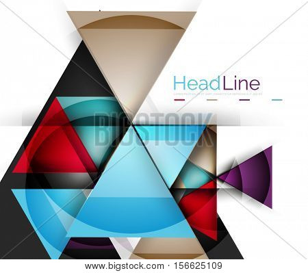 3d geometric abstract background, triangle template