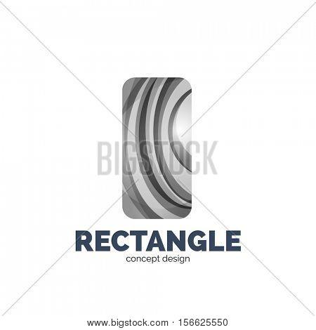 rectangle logo, abstract template