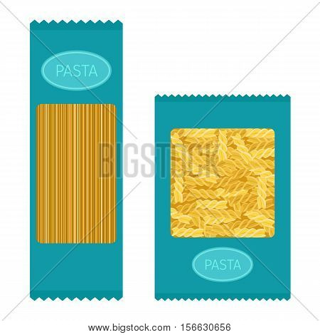 Different types of pasta. Whole wheat pasta, pasta, corn, rice noodles. Kitchen yellow nutrition dinner pasta products. Cooking spaghetti italy traditional ingredient pasta products.