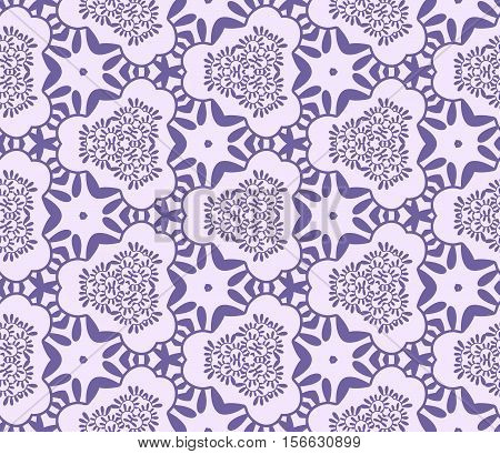 Seamless abstract vegetable wall-paper violet. A one-color pattern a print for fabric interior design a background. Basis for design.