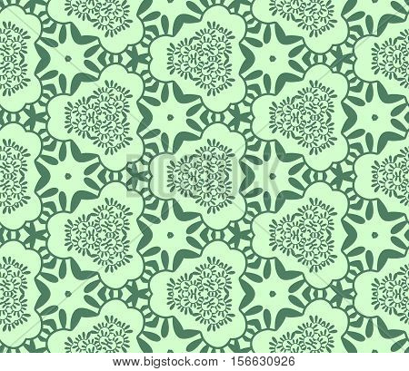 Seamless abstract vegetable wall-paper green. A one-color pattern a print for fabric interior design a background. Basis for design.