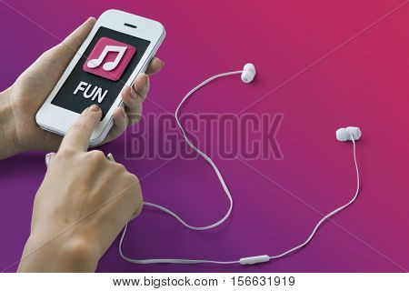 Music Auido MP3 Player Podcast Song Sound Concept
