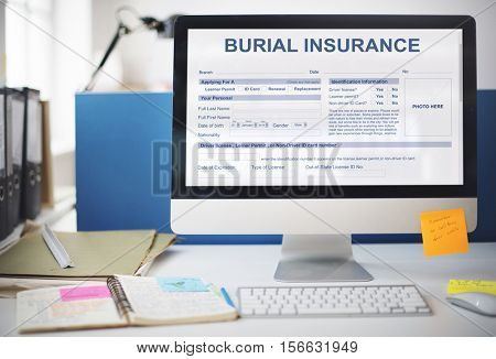 Burial Insurance Funeral Cemetery Mourning Concept