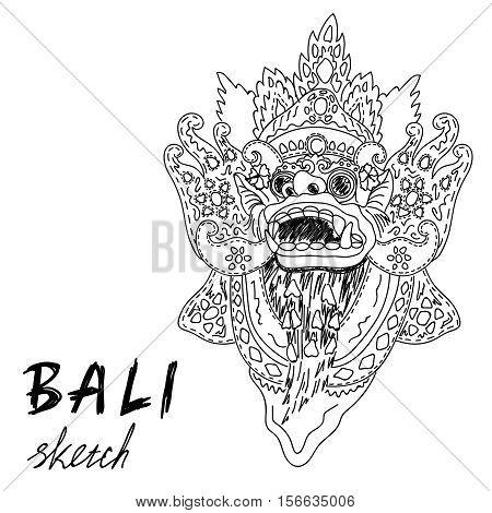 Bali Sketch Barong Vector Photo Free Trial Bigstock