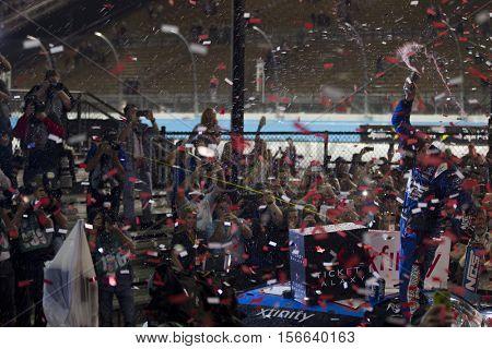 Avondale, AZ - Nov 12, 2016: Kyle Busch (18) wins the Ticket Galaxy 200 at the Phoenix International Raceway in Avondale, AZ.