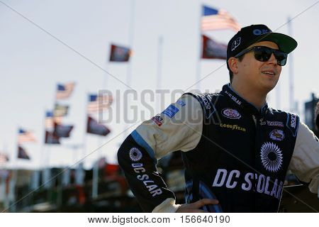 Avondale, AZ - Nov 11, 2016: Brennan Poole (48) hangs out in the garage during practice for the Ticket Galaxy 200 at the Phoenix International Raceway in Avondale, AZ.