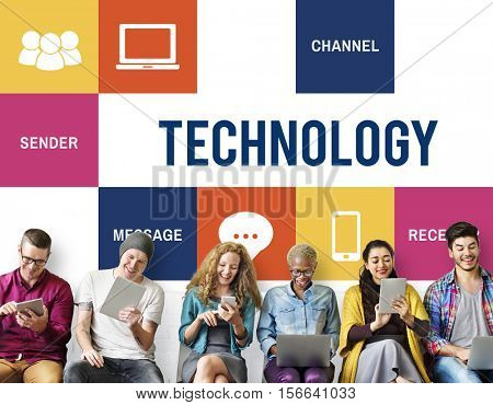 Media Technology Online Digital Networking Concept
