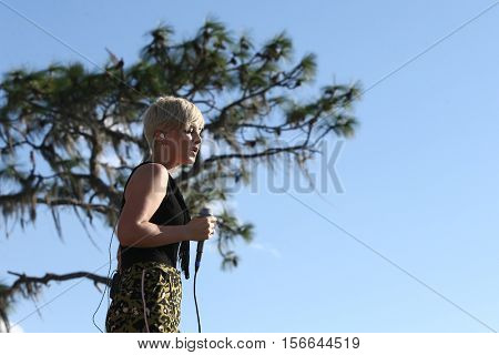 LAKE WALES, FL-NOV 5: Maggie Rose performs at the CountryFlo Music and Camping Festival on November 5, 2016 in Lake Wales, Florida.