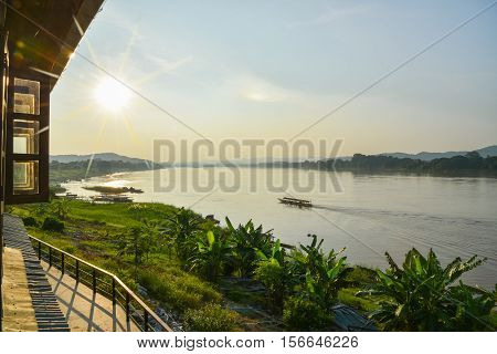 Travel around chiang khan Loei,The important water resources are the Mekong, Hueang and Loei Rivers