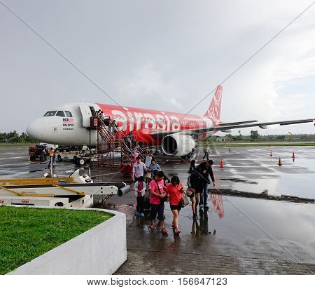Aircraft After Landing At Kalibo Airport, Philippines