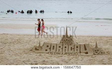 Activities On White Beach In Boracay, Philippines