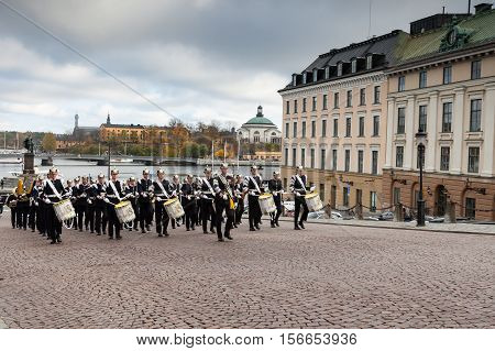 Stockholm,sweden - October 26: Changing Of The Guard Ceremony With The Participation Of The Royal Gu