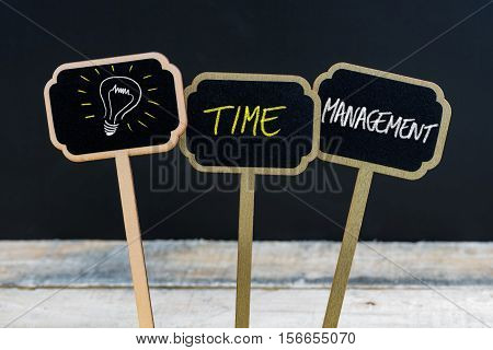 Concept Message Time Management And Light Bulb As Symbol For Idea