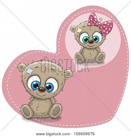 Cute Cartoon Dreaming Teddy Bear