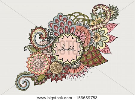 Colorful hand drawn doodles for design element for cards ,background,banner,poster and other decorations - Stock Vector