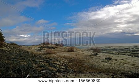Panoramic view of Curonian spit in Russia