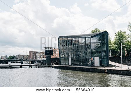 Amsterdam Netherlands - August 1 2016: Amsterdam Centre for Architecture (ARCAM) It provides information about architecture throughout the city of Amsterdam.