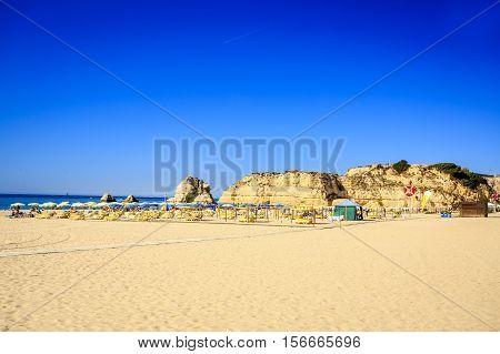 Praia da Rocha in Portimao Algarve Portugal