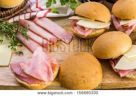 Ham And Cheese Sliders