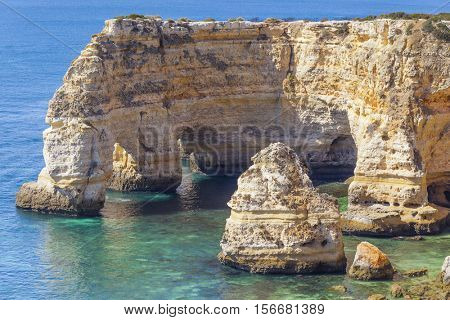 Cliffs at Marinha beach, Algarve Portugal