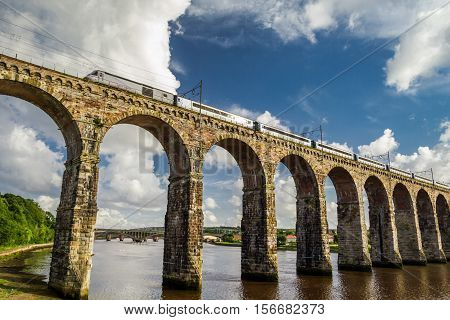 Stone Railway Bridge Between Scotland And England