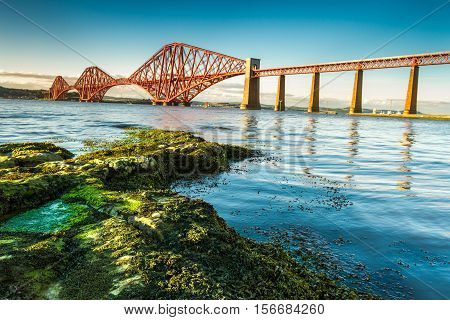 Coast In Scotland Near The Firth Of Forth Bridge