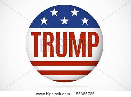November 14 2016. Donald Trump political badge vector illustration