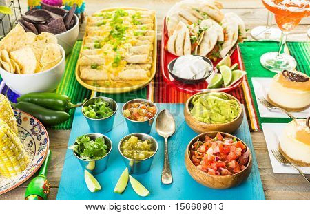 Fiesta Buffet Table