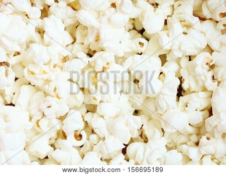 Close up of popcorn. Popcorn texture background