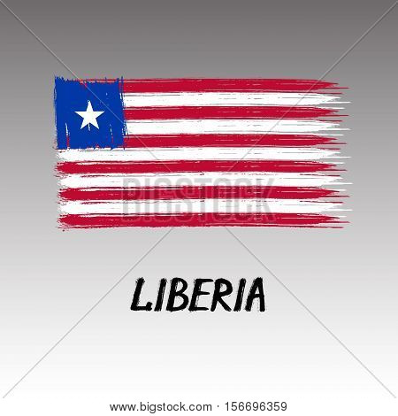 Flag Of Liberia - Color Grunge Icon