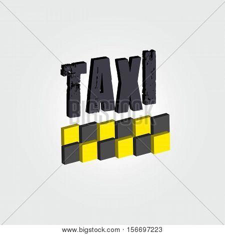 Taxi. Vector logos Icons emblem. Yellow logo