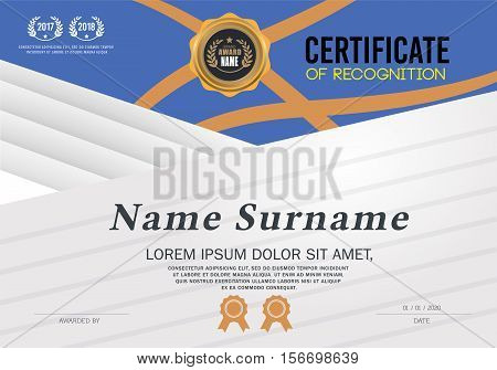 certificate template. Certificate A4 Size, Certificate lay out. Certificate