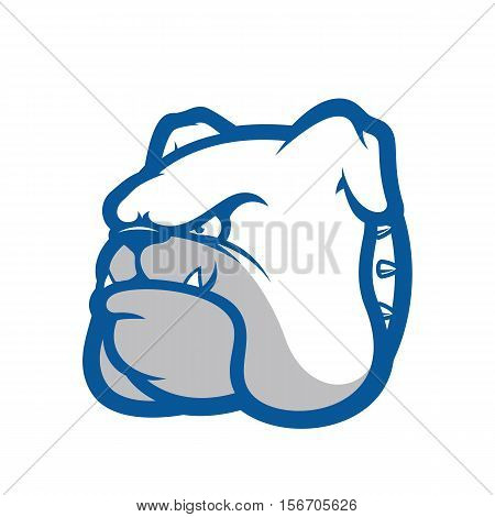 Clipart picture of a bulldog head cartoon mascot logo character