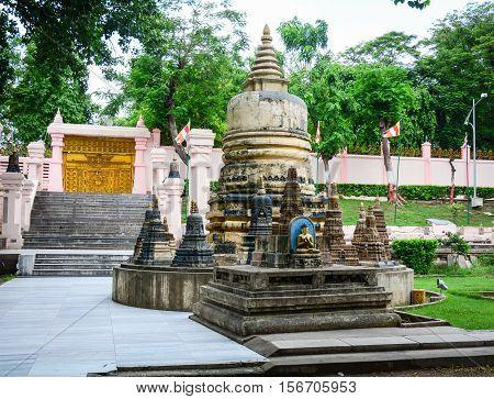 Small Stupa At Mahabodhi Temple In Gaya, India