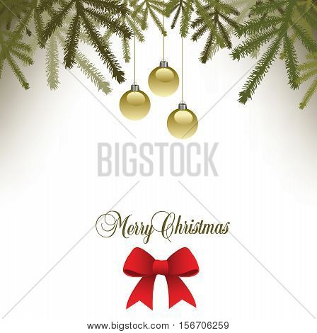 Classic  Christmas background with a bow for Print or Web
